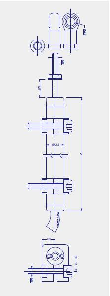 KPZ微型拉杆式直线位移传感器(电子尺)图纸